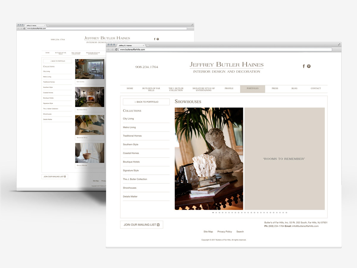 Jeff Haines Portfolio in Browsers