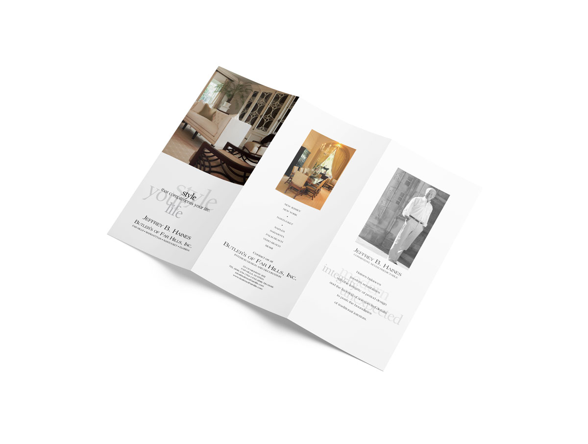 Jeff Haines Trifold Brochure